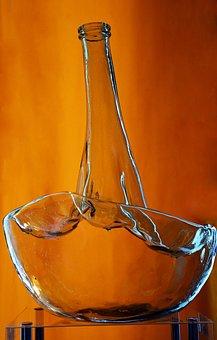 Glass Art, Glass, Bottle, Art, Decorative, Decoration