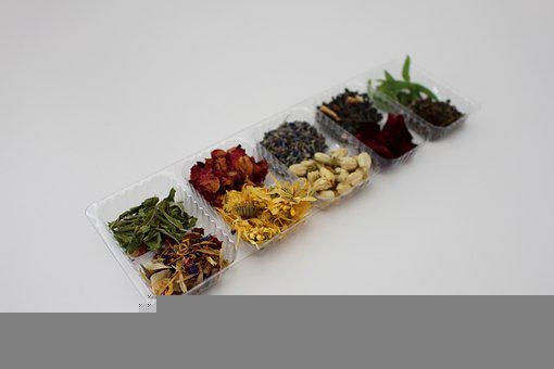 Flowers, Herbs, Container, Dry, Dried, Leaves, Petals