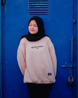 Hijab, Muslim, Woman, Young, Girl, Smile, Portrait