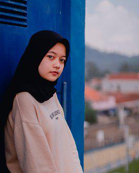 Hijab, Muslim, Woman, Young, Girl, Portrait, Beautiful