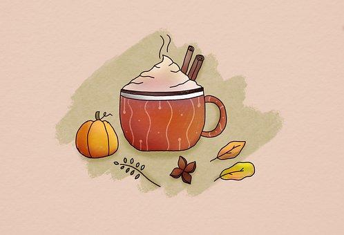 Coffee, Fall, Wallpaper, Autumn, Maple, Leaves, Pumpkin