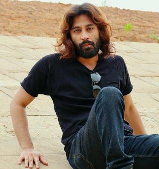 Man, Model, Portrait, Long Hair, Bearded Man