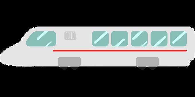 Modern Train, High-Speed Train, Rail