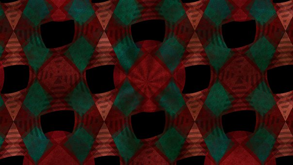Abstract, Geometric, Red, Pattern, Crimson, Exotic