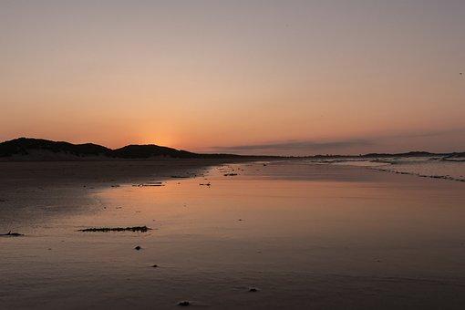 Sunset, Beach, Sunrise, Sun, Coast, Sea