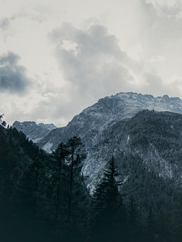Nature, Mountains, Travel, Trees, Clouds