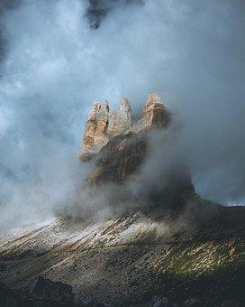 Nature, Outdoors, Destination, Mountain, Clouds, Dense