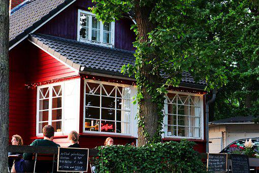 Coffee Shop, Restaurant, Kiosk, Coffee, Bay, People