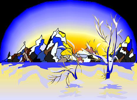 Winter, Snow, Mountains, Glacier, Ice, Cold, Landscape