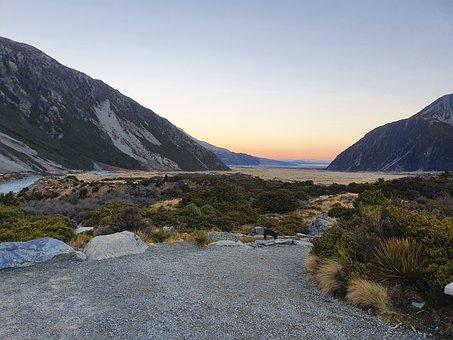 Mt Cook, Lake, Mountain, Landscape, Nature, Snow