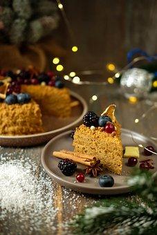 Dessert, Cake, Berries, Snack, Baked Goods, Pastries