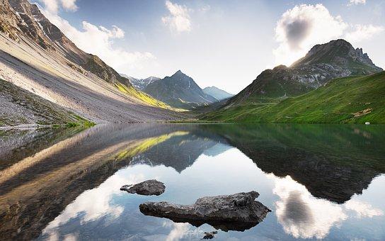 Lake, Nature, Travel, Mountains, Landscape, Outdoors