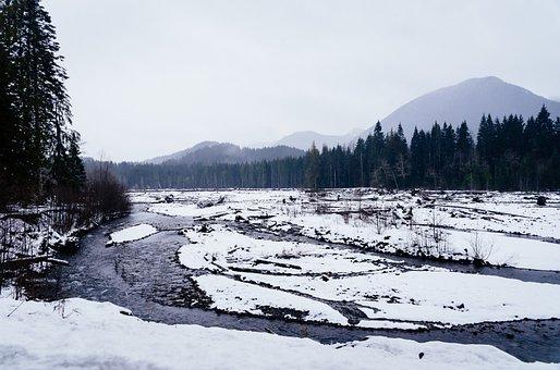 Winter, Nature, Season, Snow, Trees, Mountains
