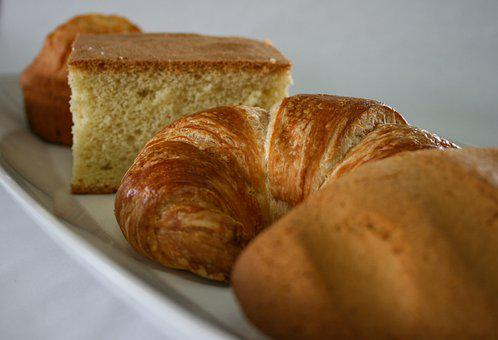 Bread, Baked, Food, Croissant, Baked Goods