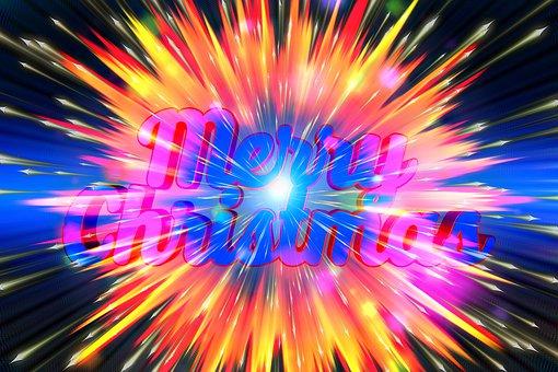 Christmas, Explosion, Stars, Expansion, Big Bang