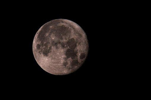 Moon, Full Moon, Sky, Night Sky, Lunar, Moonlight