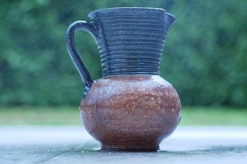 Pottery, Ceramic, Container, Vase, Sandstone, Rain