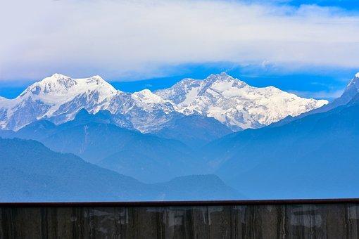 Mountains, Summit, Fog, Scenic, Scenery, Himalayas