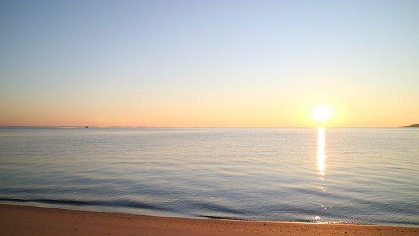 Beach, Chesapeake Bay, Sunrise, Shore, Seashore