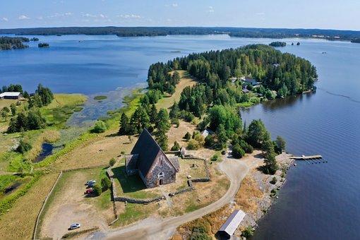St Olaf Church, Church, Sastamala, Lake, Stone Church