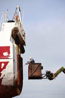 Dry Dock, Repair, Worker, Shipyard, Ship, Drydock