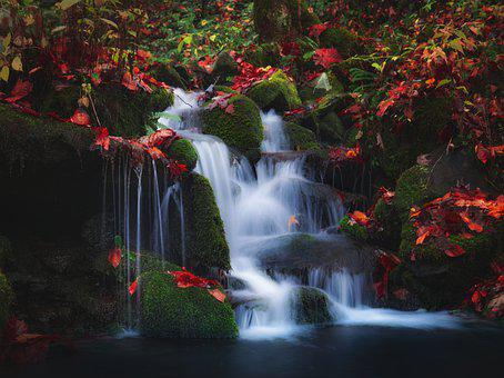 Waterfall, Flowing Water, Cascading, Rocky, Outdoors
