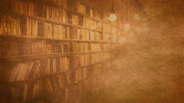 Library, Books, Knowledge, Literature, Bookshelf, Old