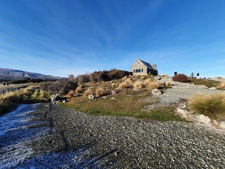 Church, Village, Mount Cook, Snow, Old Church