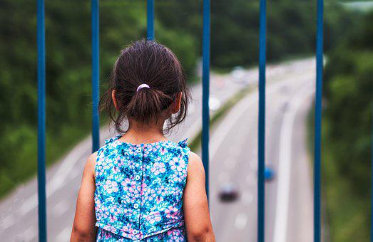 Girl, Highway, Road, Young, Female, Travel, Child