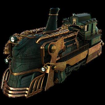Train, Transportation, Cutout, 3d Render, Steam Train