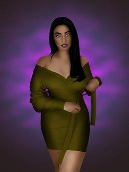 Woman, Beauty, Digital Art