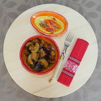 Ratatouille, Dish, Food, Vegetables, Courgette