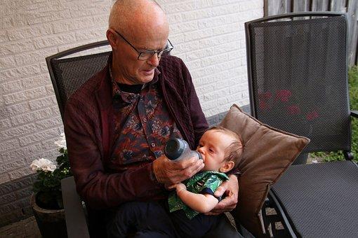 Man, Baby, Grandfather, Grandchild, Grandson