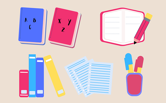 Books, Paper, Pen, Pencil, Study, Literature, Textbooks