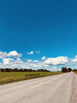 Road, Highway, Rural, Landscape, Field, Path