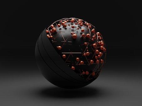 Sphere, Abstract, Geometric, Illusion, Futuristic