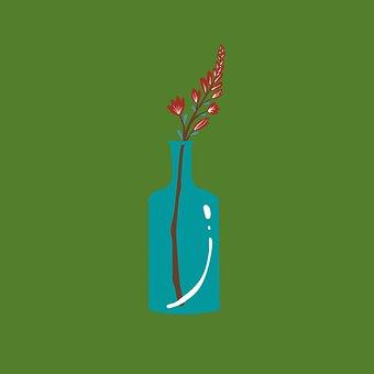 Flower, Plant, Vase, Bottle, Glass, Bloom, Decoration