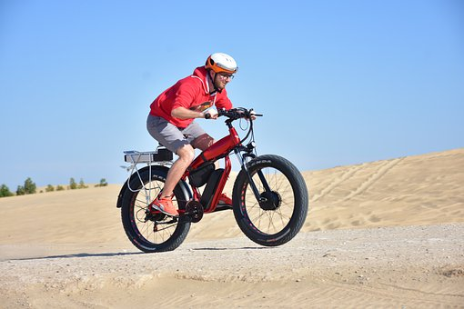 Electric Bike, Ride, Desert, Sand, Cycling, Bicycle