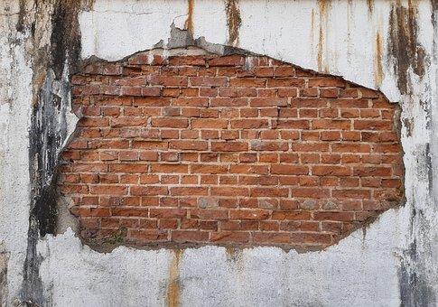 Wall, Brick, Old, Weathered, Brick Wall, Building