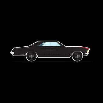 Car, Auto, Vehicle, Black, Old Car, Automobile, Vintage