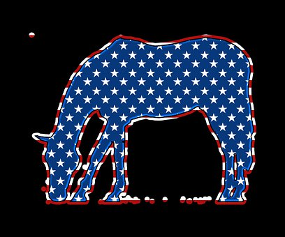 Horse, Usa, Flag, Silhouette, Animal, Symbol, Ornament