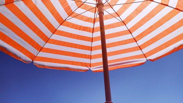 Umbrella, Parasol, Beach, Summer, Sky, Sun