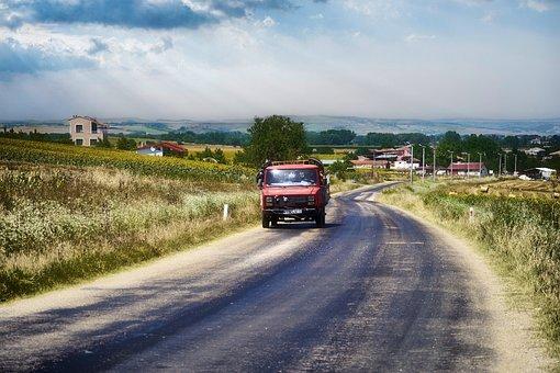 Road, Vehicle, Rural, Travel, Auto, Asphalt, Landscape