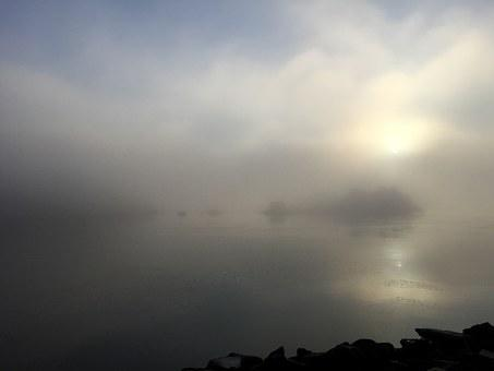 Fog, Clouds, Color, Abstraction, Foggy, Ocean, Water