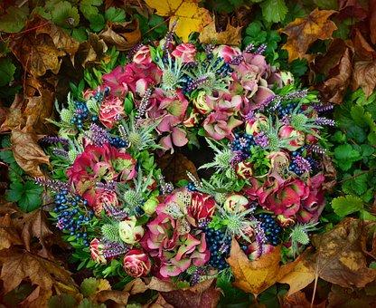 Autumn, Wreath, Arrangement, Decoration, Floral Wreath
