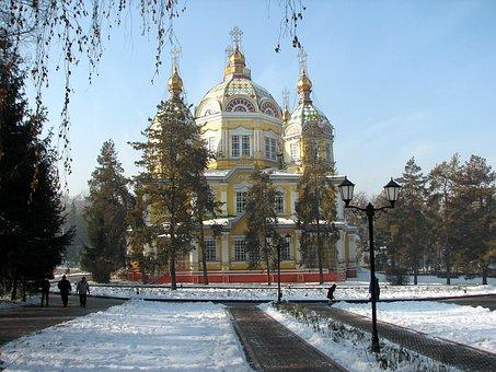Almaty, Kazakhstan, Ascension, Cathedral, Church