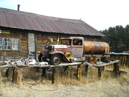 Ghost Town, Abandoned, Colorado, Guffey, Guffey Co, Co