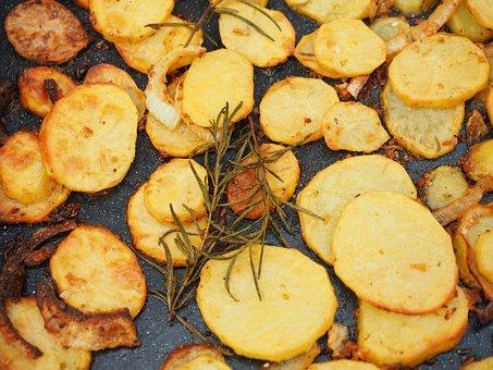 Potatoes, Fried Potatoes, Eat, Delicious, Vegetables
