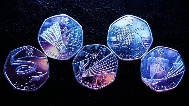 Olympic, Coins, Money, Sports, Olympics, Fifty, Pence