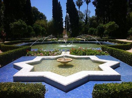 Marokko, Fez, Reizen, Reis, Blauw, Ster, Fontein, Water